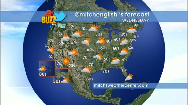 Here&#039;s my weather forecast for today from mitchsweathercenter.com #weather