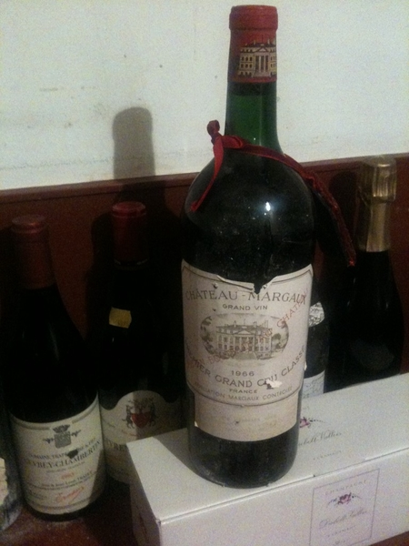 Is going to open this bottle of wine Chateau Margaux Premier Grand Cru Class 1966 #Christmas 