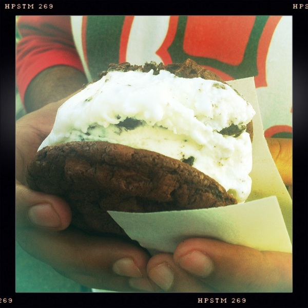 Chocolate cookies w- cookies and cream ice cream!  - #YamashiroFarmersMarket