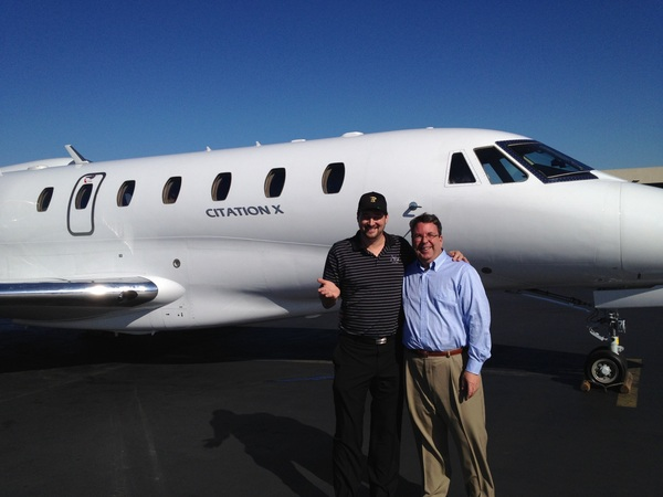 PIC: Citation X - the worlds fastest commercial jet, and our ride to Vegas.  W @PDeutch.  67 mins San Jose to Vegas