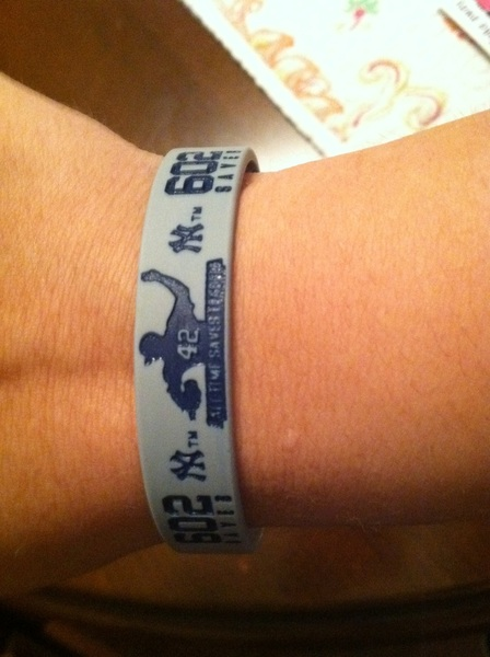 Awesome wristbands my aunt @Berta088 got for me at the Yankees game!