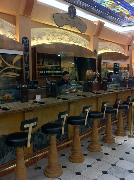 Harrod&#039;s Food Halls: up with times: put in jamn ibrico counter with nice wine and tapas