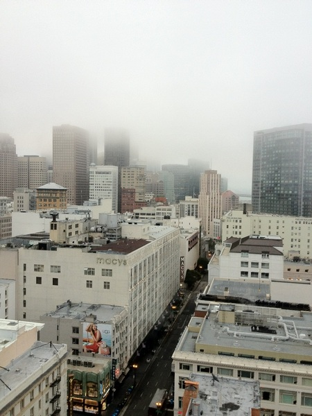 yes, it is foggy in San Francisco !