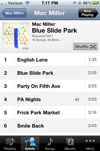 @MacMiller I bought #BlueSlidePark through iTunes.
