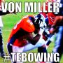 La mejor celebracin del primer domingo de #NFL Von Miller #Tebowing cc/ @Alonzo_s @PlaysOfTheWeek 