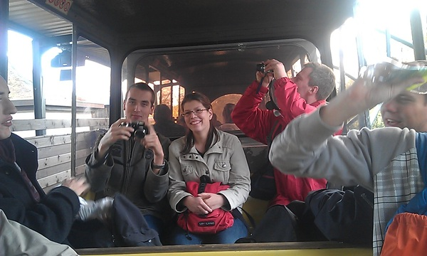 Nu in de monorail in #bobbejaanland