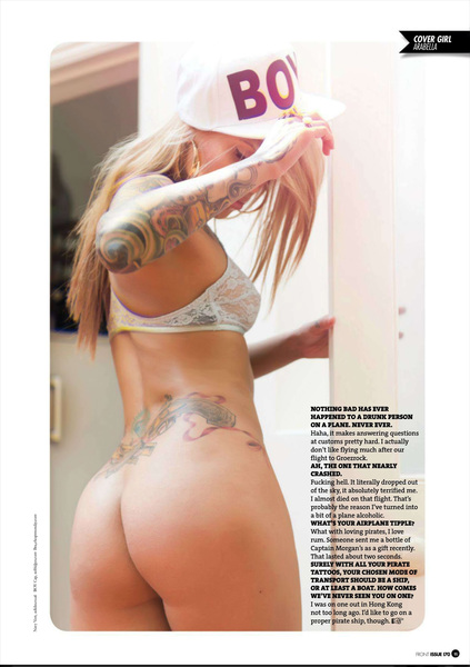 The Sexiest Pirate on the planet @ArabellaD from new Front isuue. Buy it for more photos