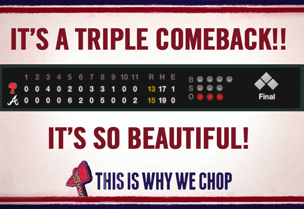 It's a triple comeback! It's so beautiful! #ThisIsWhyWeChop