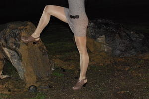 Les In #pantyhose #outdoors #tights