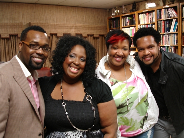 "#ThrowBackMoment w/  @VaShawnMitchell @Yanna_SoulSings @JawnMurray & myself:-) I luv my bros & sis! ""HEY Y'ALL"""