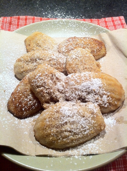 Made dinner: Robouchon lemon-honey madeleines.  Unlike any others! 