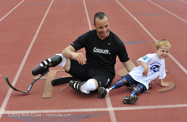 Please #Follow @CAFoundation #CAFChangesLives. Here is @OscarPistorius with Joshua Miller.
