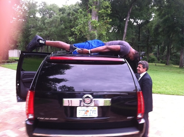 Limo planking Lol