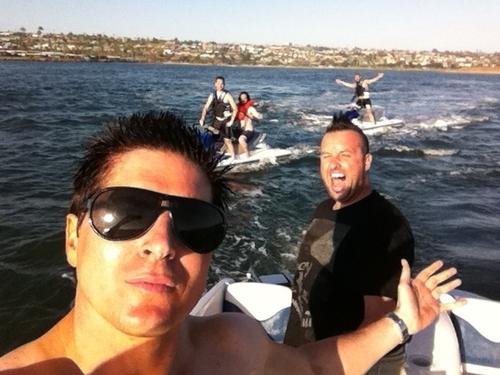 Havin fun on the water before lockdown    Zak Bagans Parents