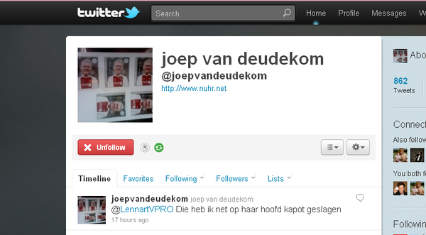 Padvindersdaad v/d dag ! Unfollowed @joepvandeudekom and following his bro, @Theovandeudekom!