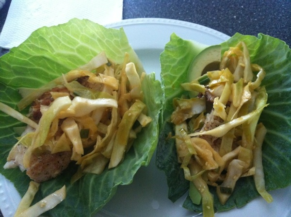 Fish tacos #PaleoStyle... Thanks again  @bridkwin 
