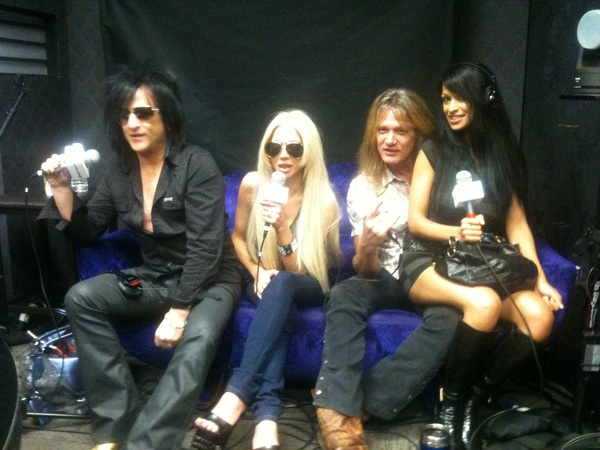 In Studio now @sebastianbach Steve  Stevens @JosieStevensMTR &amp; Minnie Gupta 877.205.9796 #PlayboyRadio #PlaymateClub