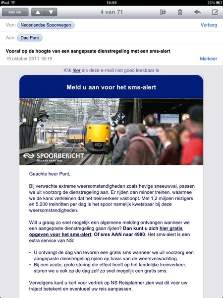 &quot;Het&quot; SMS-alert? Bah!