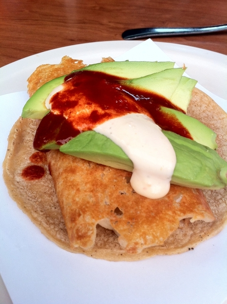 Taco Crawl #5: Salseados, modern tacos: queso-taco (cheese like chicharrón d queso) w sm salmon, avo, morita,cream