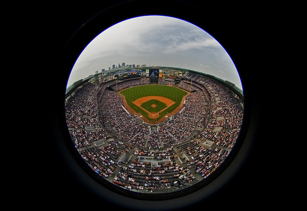 Photo of the Day: Check out this awesome bird's-eye view of Turner Field taken in 2009 by @bravesphoto #tbt #Braves