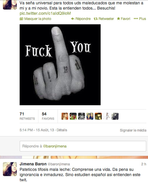 Stand By Your Man: Osvaldos (Roma) girlfriend fends off trolling tifosi with unequivocal Tweet gesture