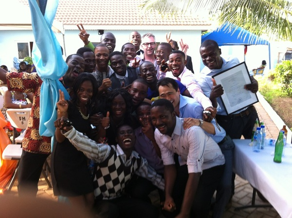 These guys just finished 2 years training in the #MESTghana startup accelerator. Think they look happy? ;-)