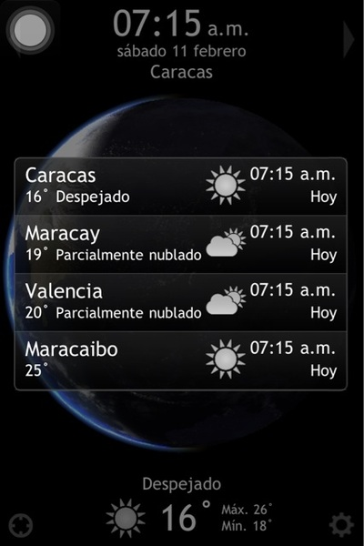 Pronostico del tiempo para #Caracas #Maracay #Valencia #Maracaibo