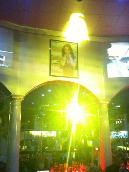 Look whos cover hangs above the bar @Penthouse club Baton Rouge!