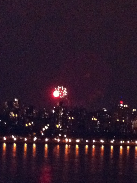 Fireworks outside my window!