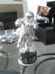 "Do the Bad Romance""!!! Paws up...Moonman arrived!!!!!safe and sound"