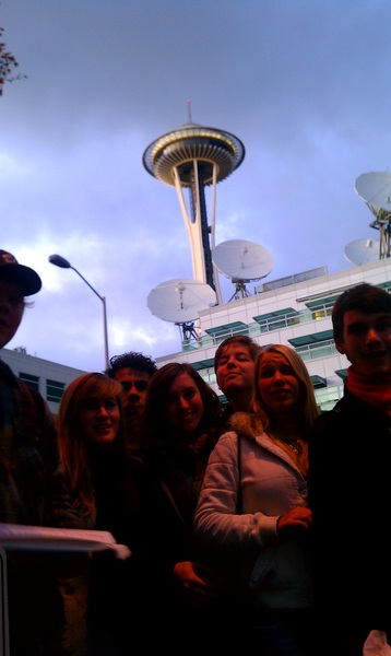 On the set of The Jetsons w/ #WIBC2011 crew.
