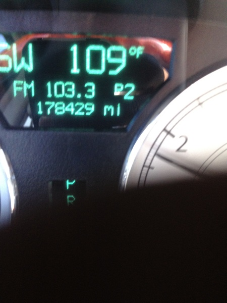 Can't be right my car is saying its 109