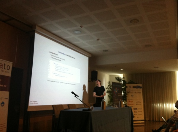 An explanation of how to use conposer by @seldaek #phpday