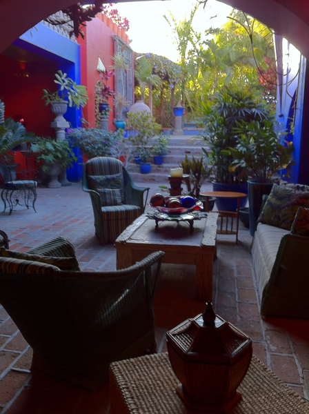 Shooting at Hotel California in Todos Santos (yes, that one). It's so beautiful!