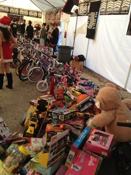 It's still early and look at all the toys!!!