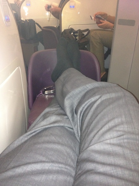 Bit more leg room this time!! :-). #rydercup #europe