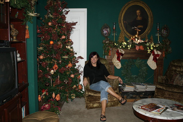 Me in the 'Christmas room' b4 investigation @ the Thomas House in Red Oiling Springs, TN. #paranormal
