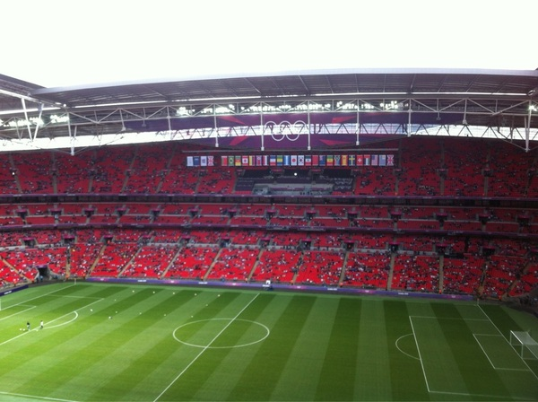 Amazing! #Wembley #OS2012 ready for Mexico-Senegal #ziningoud