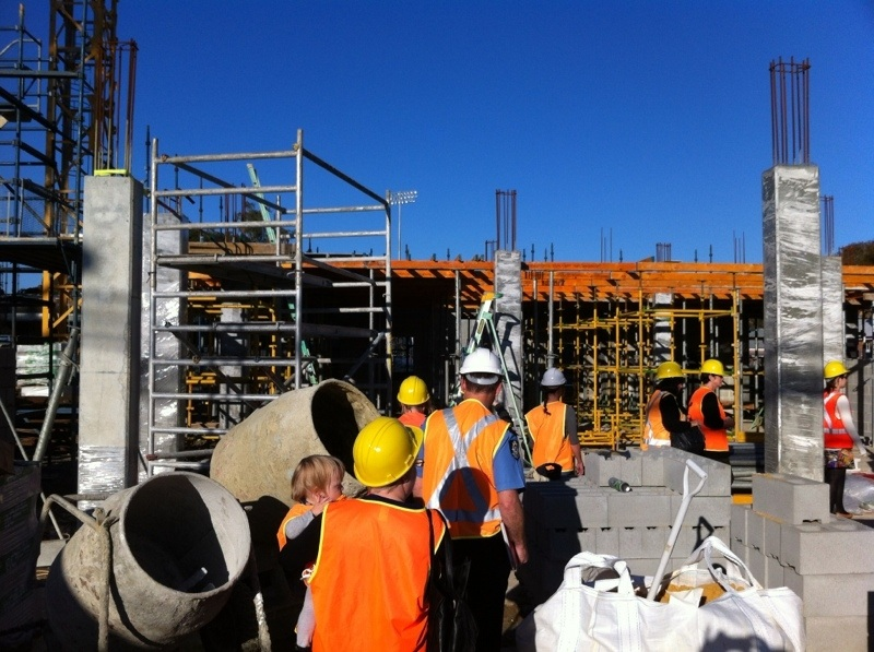 Foyer House Leederville : Inside foyer oxford as construction takes place st
