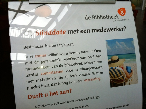 Een blind date in de bibliotheek; #bibliotheek #innovatie Durft u het aan?