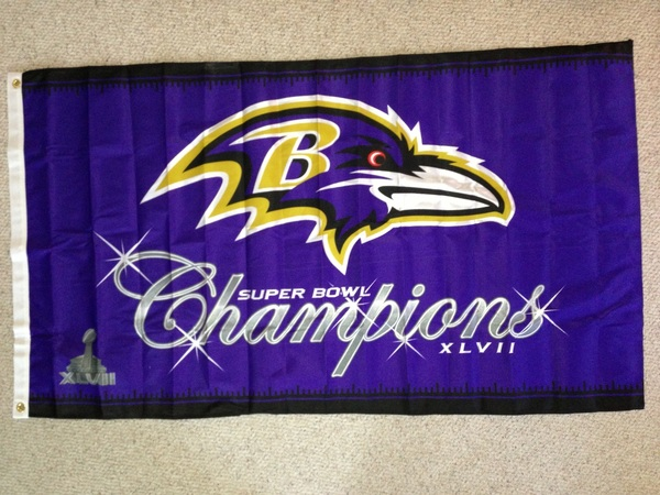 New flag for next season. First install will be September 5th, 2013. #GoRavens