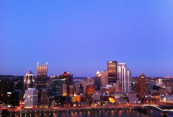 Photo: This view never gets old - #Pittsburgh #skyline 