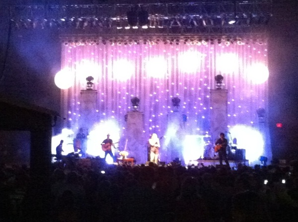 Not my usual view of the show... Sounding great from here @ColbieCaillat !
