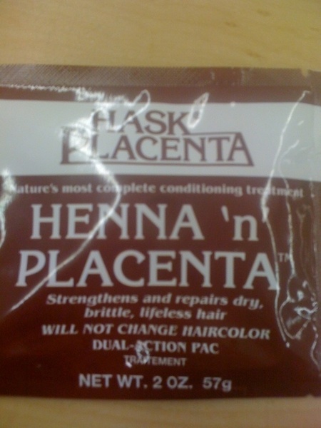 Mmm placenta! I can't wait to rub this all up in my hair!!!