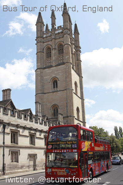 Red double decker buses are as British as Fish and Chips #Oxford #England #Travel