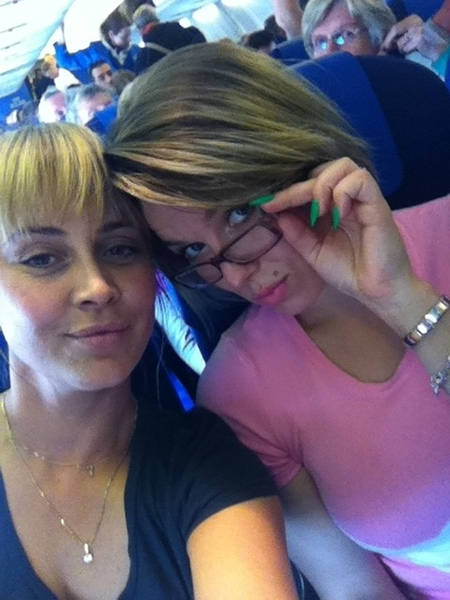 Me and Morrison flying to Sweden :-)