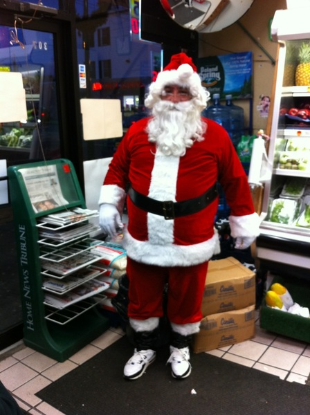 Puerto Rican Santa Claus rocking the Jordans the night before Navidad