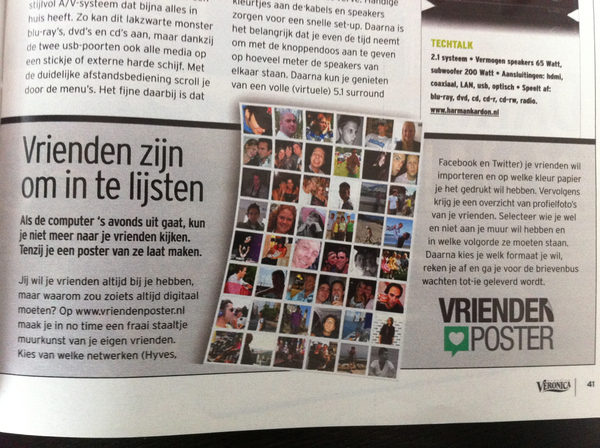 Vriendenposter in Veronica Magazine!
