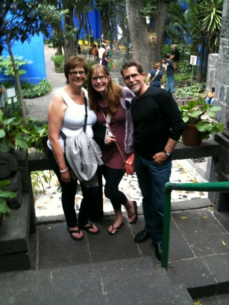 My family and I in the garden at the Frida Kahlo House. She was monumental, brilliantly bigger than life