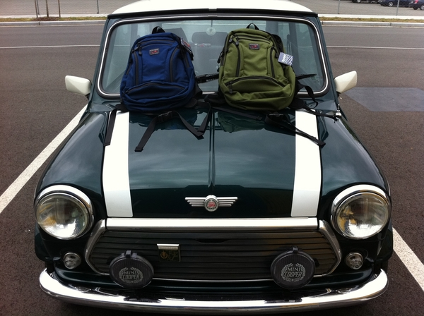 Stopped by the @tombihn factory to accessorize the Mini thanks Brian!